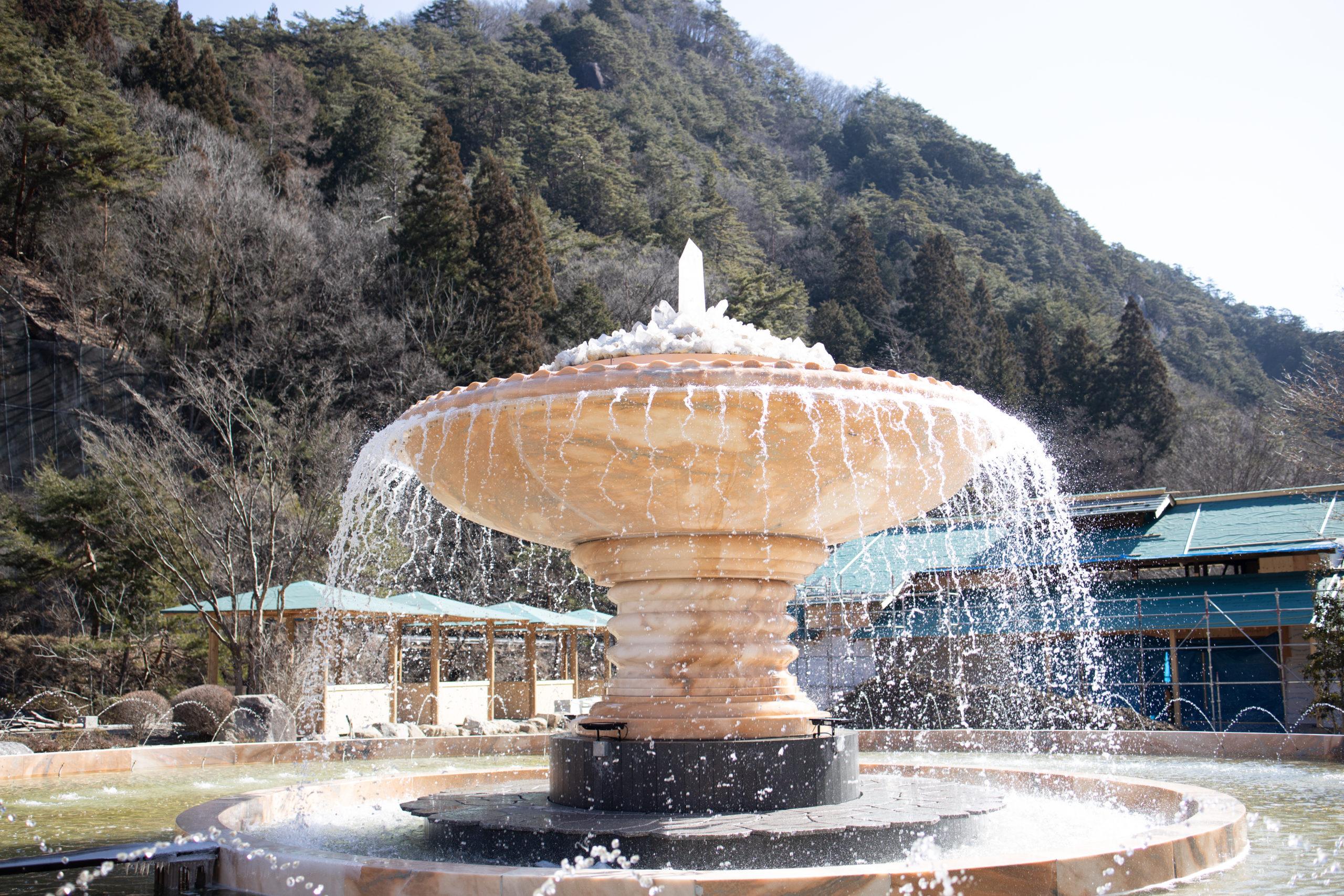 昇仙峡 噴水